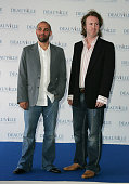 Marcos Siega and Carl Levin during 31st American Film Festival of Deauville 'Pretty Persuasion' Photocall at CID in Deauville France