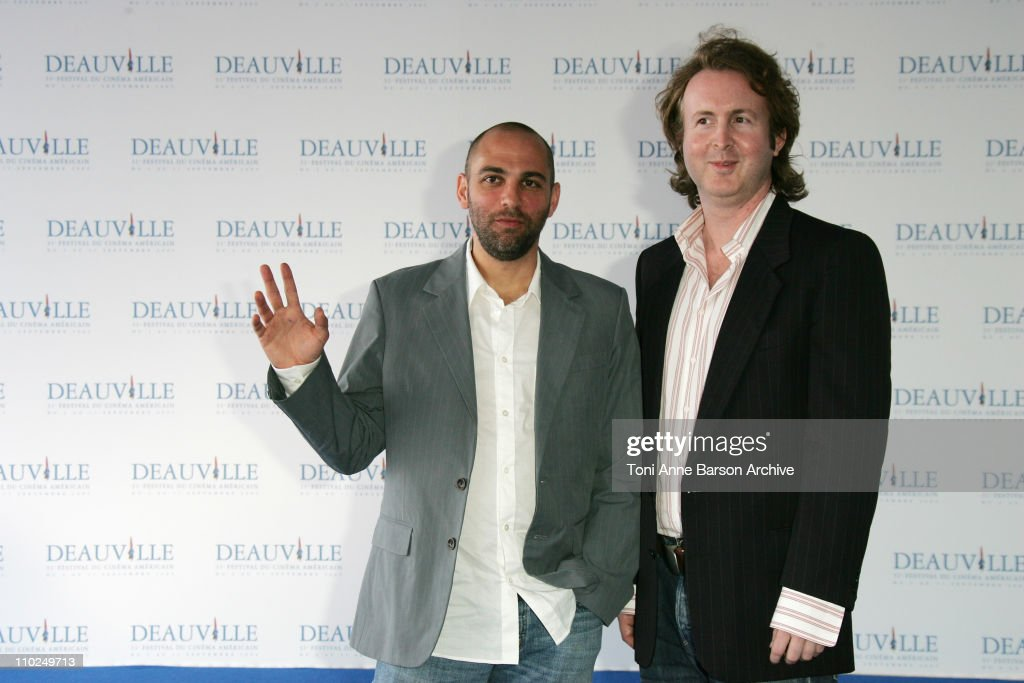 Marcos Siega and Carl Levin during 31st American Film Festival of Deauville - 'Pretty Persuasion' Photocall at CID in Deauville, France.