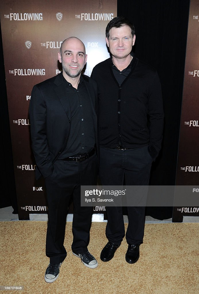 Marcos Siega and Kevin Williamson attend 'The Following' World Premiere at The New York Public Library on January 18, 2013 in New York City.