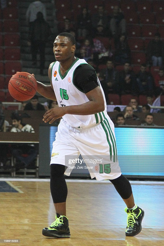 <a gi-track='captionPersonalityLinkClicked' href=/galleries/search?phrase=Marcus+Banks&family=editorial&specificpeople=201469 ng-click='$event.stopPropagation()'>Marcus Banks</a> #15 of Panathinaikos Athens in action during the 2012-2013 Turkish Airlines Euroleague Top 16 Date 2 between Anadolu EFES Istanbul v Panathinaikos Athens at Abdi Ipekci Sports Arena on January 3, 2013 in Istanbul, Turkey.