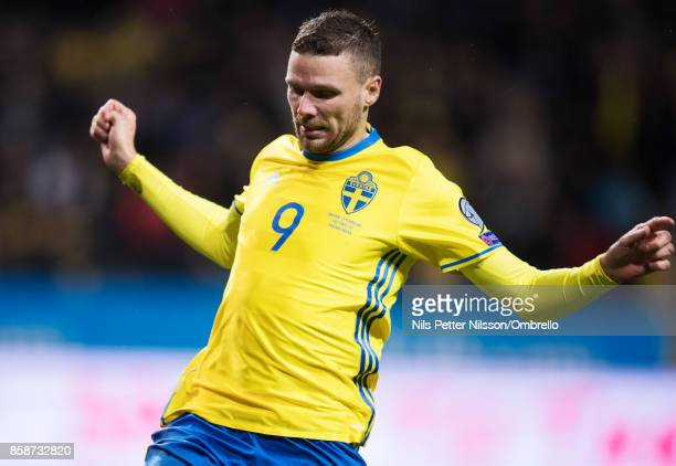 Marcus Berg of Sweden during the FIFA 2018 World Cup Qualifier between Sweden and Luxembourg at Friends Arena on October 7 2017 in Solna Sweden