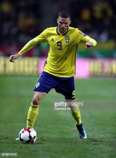 Marcus Berg of Sweden during the FIFA 2018 World Cup Qualifier PlayOff First Leg between Sweden and Italy at Friends arena on November 10 2017 in...