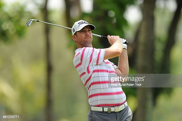 Marcus Both of Australia plays a shot during round two of the ICTSI Philippine Open at Wack Wack Golf and Country Club on May 16 2014 in Manila...