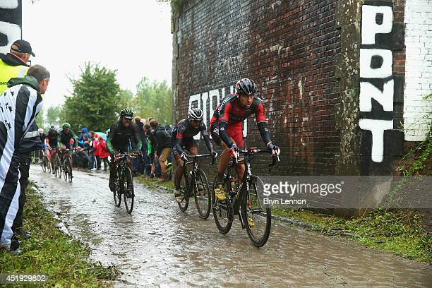 Marcus Burghardt of Germany and BMC Racing in action during the fifth stage of the 2014 Tour de France a 155km stage between Ypres and Arenberg Porte...