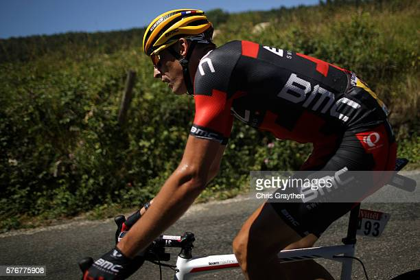 Marcus Burghardt of Germany riding for BMC Racing Team rides in the peloton during stage fifteen of the 2016 Le Tour de France a 160km stage from...