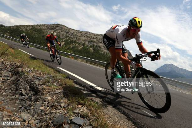 Marcus Burghardt of Germany riding for BoraHansgrohe rides during stage 19 of the 2017 Le Tour de France a 2225km stage from Embrun to...