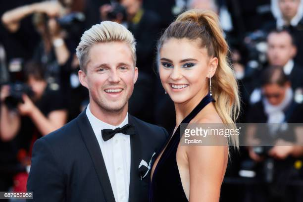 Marcus Butler and Stefanie Giesinger attend the 'The Beguiled' screening during the 70th annual Cannes Film Festival at Palais des Festivals on May...