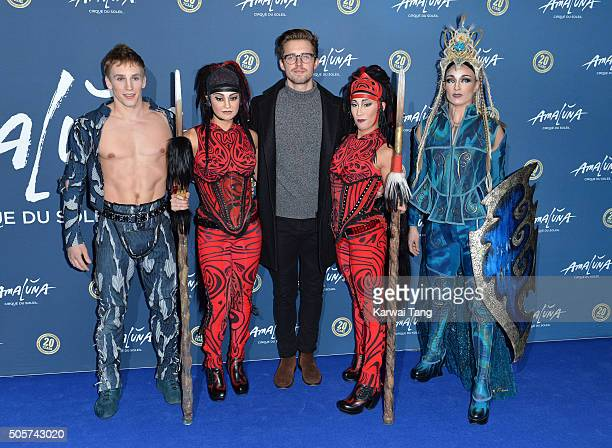 Marcus Butler attends the Red Carpet arrivals for Cirque Du Soleil Amaluna at Royal Albert Hall on January 19 2016 in London England