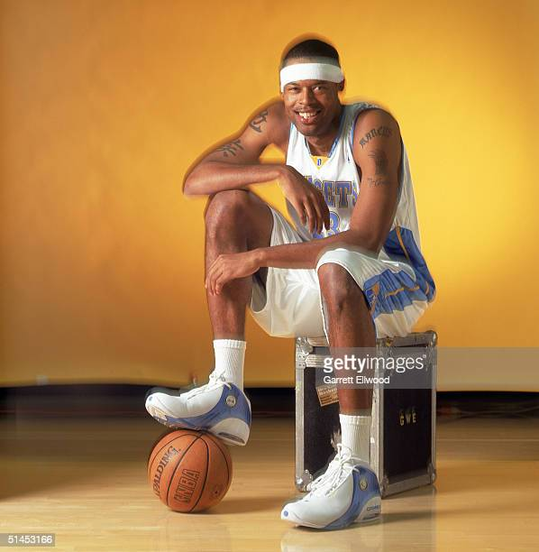 Marcus Camby of the Denver Nuggets pose for a portrait during NBA Media Day on October 4 2004 in Denver Colorado NOTE TO USER User expressly...