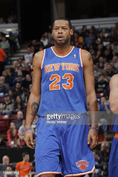 Marcus Camby of the New York Knicks in a game against the Sacramento Kings on December 28 2012 at Sleep Train Arena in Sacramento California NOTE TO...