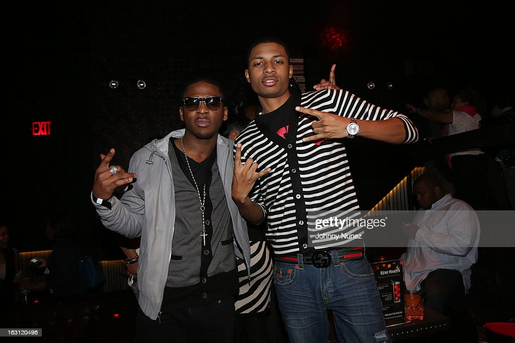 Marcus Canty and Deon Young attend the Remy Martin V.S.O.P Ringleader Culmination Event with Robin Thicke at Marquee on March 4, 2013 in New York City.