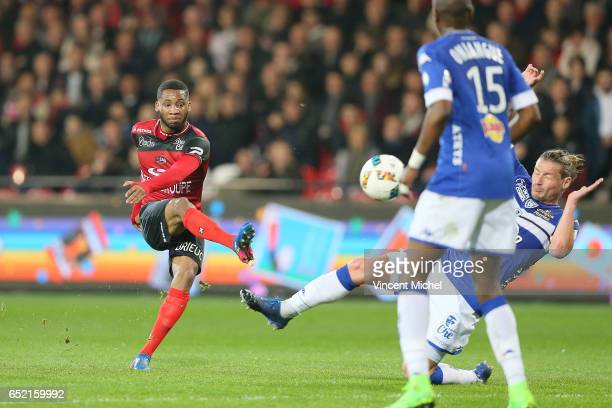 Marcus Coco of Guingamp during the Ligue 1 match between EA Guingamp and SC Bastia at Stade du Roudourou on March 11 2017 in Guingamp France