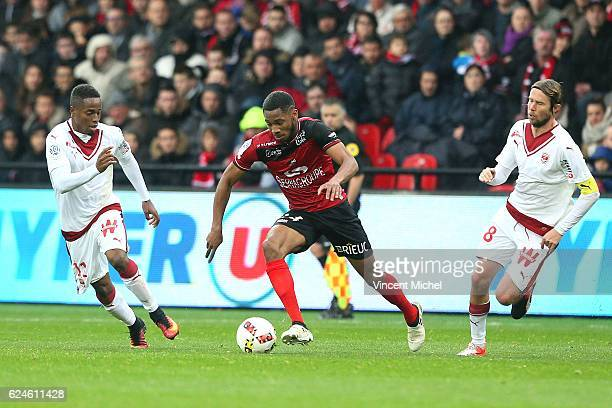 Marcus Coco of Guingamp during the Ligue 1 match between En Avant Guingamp and Girondins de Bordeaux at Stade du Roudourou on November 20 2016 in...