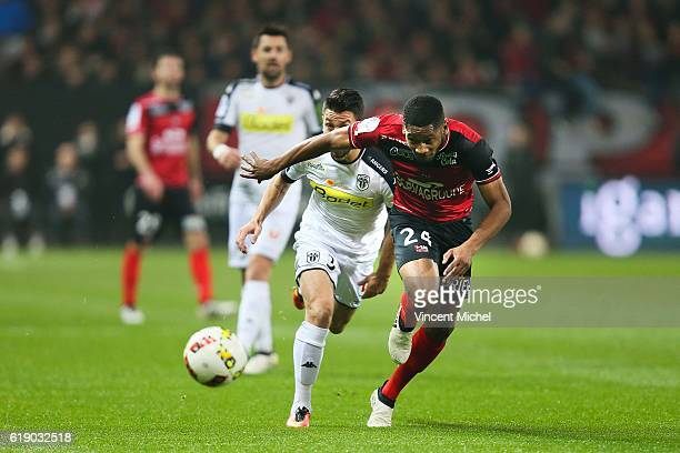 Marcus Coco of Guingamp during the Ligue 1 match between Guingamp and Angers at Stade du Roudourou on October 29 2016 in Guingamp France