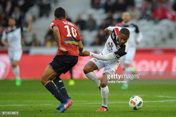 Marcus Coco of Guingamp during the Ligue 1 match between Lille OSC and EA Guingamp at Stade PierreMauroy on April 22 2017 in Lille France