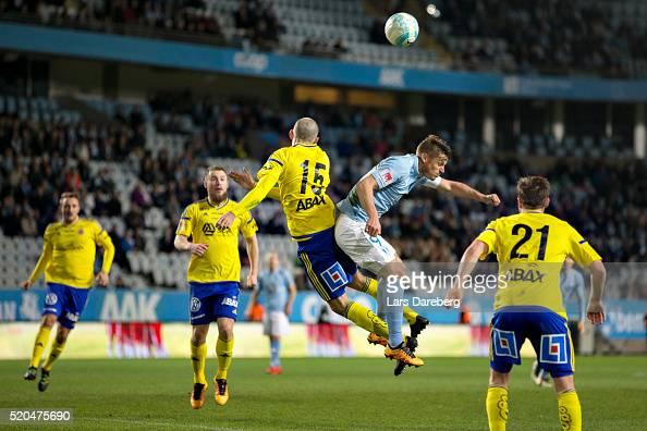 Marcus Danielsson of GIF Sundsvall and Markus Rosenberg of Malmo FF during the Allsvenskan match between Malmo FF v GIF Sundsvall at Swedbank Stadion...