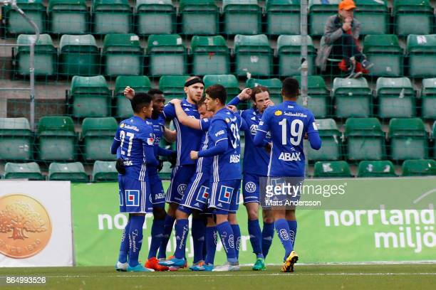 Marcus Danielsson of GIF Sundsvall scores 10 during the Allsvenskan match between GIF Sundsvall and IFK Norrkoping at Idrottsparken on October 22...
