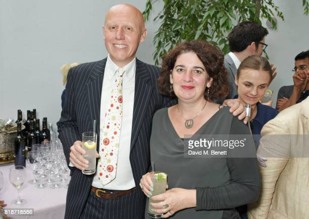 Marcus Davey and Moira Sinclair attend the Mayor of London's Summer Culture Reception on July 18 2017 in London England