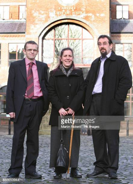 Marcus Davies Lezley Gibson and husband Mark after leaving Carlisle Crown Court
