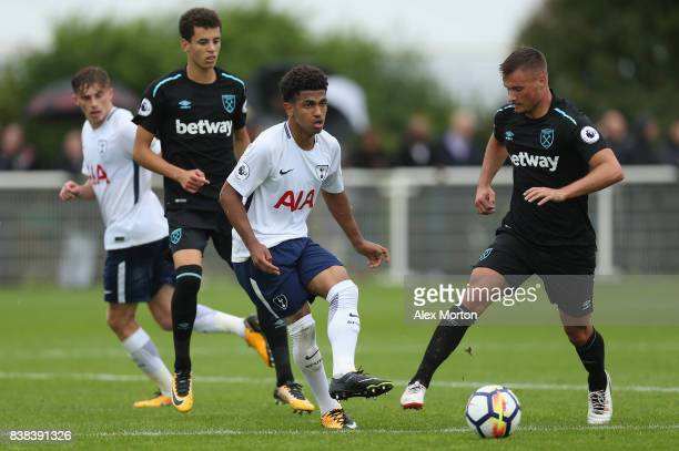 Marcus Edwards of Tottehnham during the Premier League 2 match between Tottenham Hotspur and West Ham United at Tottenham Hotspur Training Centre on...