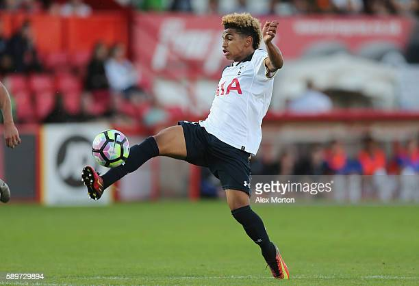 Marcus Edwards of Tottenham during the Premier League II match between Tottenham Hotspur and Everton at the Lamex Stadium on August 15 2016 in...