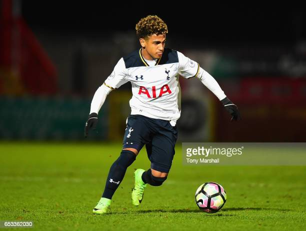 Marcus Edwards of Tottenham Hotspur during the Premier League 2 match between Tottenham Hotspur and Reading at The Lamex Stadium on March 13 2017 in...
