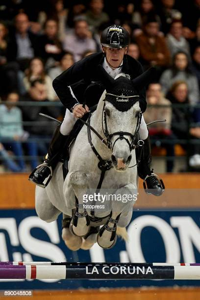 Marcus Ehning attends during CSI Casas Novas Horse Jumping Competition on December 10 2017 in A Coruna Spain