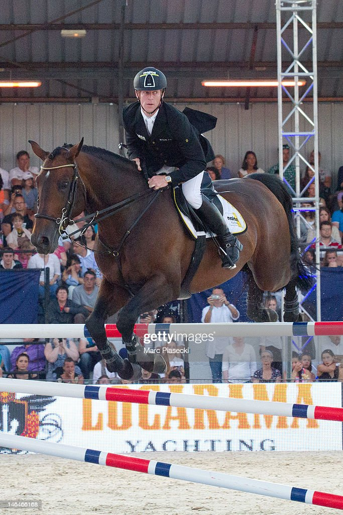 Marcus Ehning competes in the the '31st International Cannes Jumping' Global Champions Tour 2012 on June 16 2012 in Cannes France