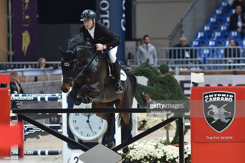 Marcus Ehning of Germany competes in Premio Equiline during Jumping Verona 2014 on November 8 2014 in Verona Italy