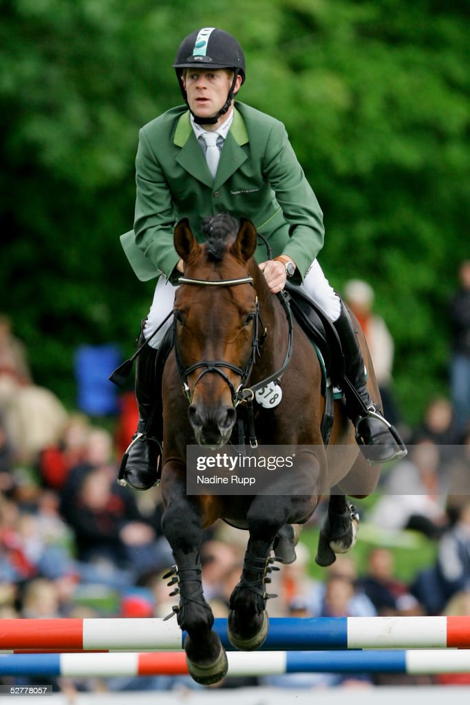 Marcus Ehning of Germany jumps on his horse Sandro Boy during the Hasseroeder championship of Hamburg of the German Jumping and Dressage Grand Prix...
