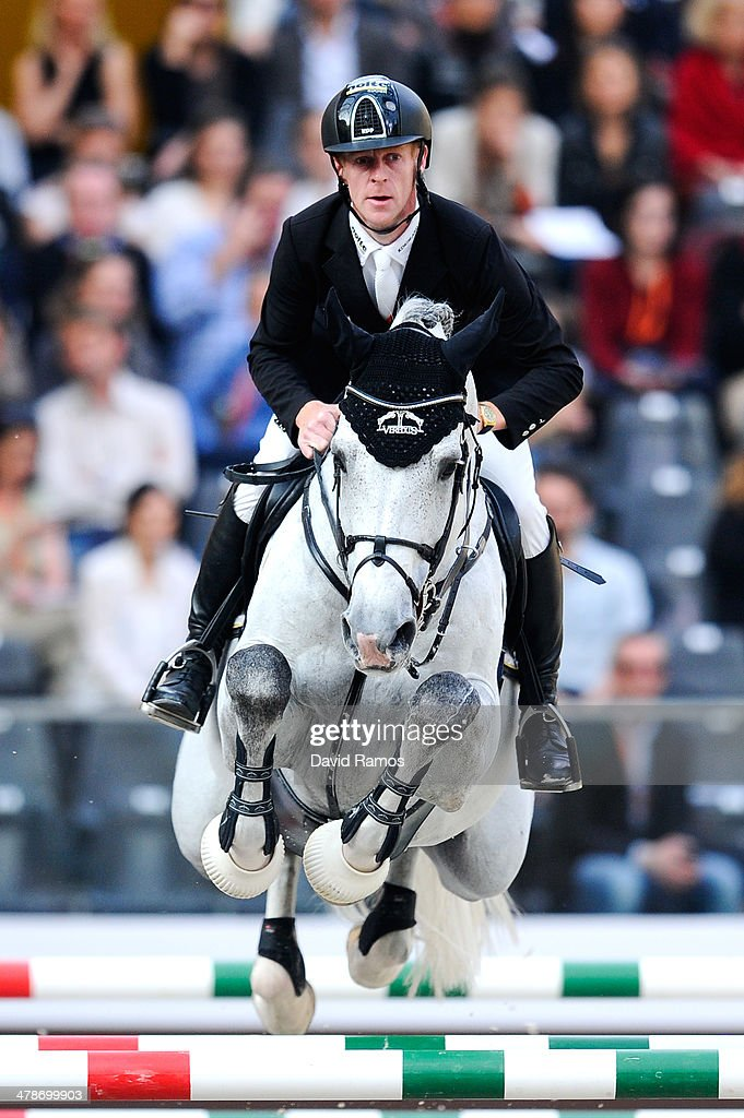 Marcus Ehning of Germany on Cornado NRW in action during the Prix Hermes Sellier during the first day of the Grand Prix Hermes of Paris at Grand...