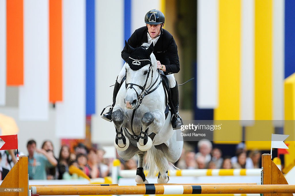 Marcus Ehning of Germany on Cornado NRW in action to win the Grand Prix Hermes during the third day of the Grand Prix Hermes of Paris at Grand Palais...