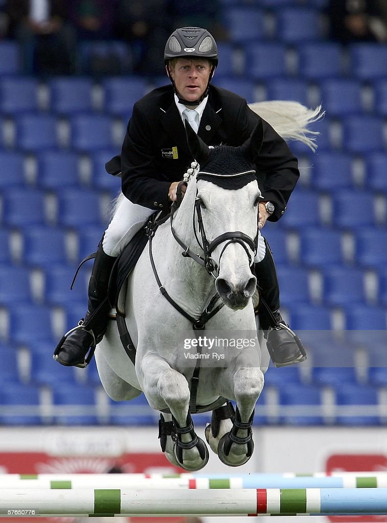 Marcus Ehning of Germany rides Gitania during the RWE Prize of North Rhein Westphalia on Day 1 of the CHIO Aachen 2006 international Dressage and...
