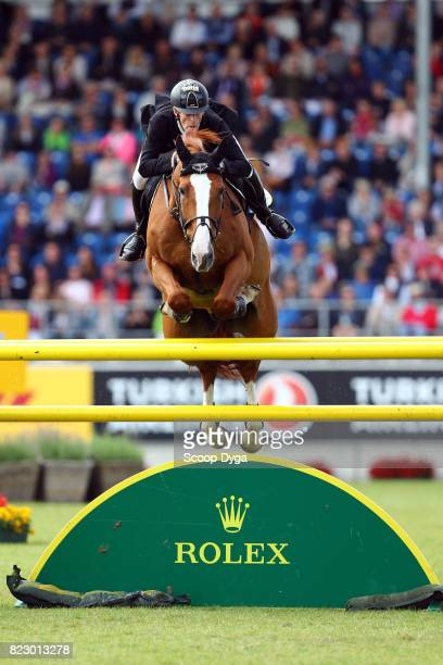 Marcus EHNING riding PRET A TOUT during the Rolex Grand Prix part of the Rolex Grand Slam of Show Jumping of the World Equestrian Festival on July 23...