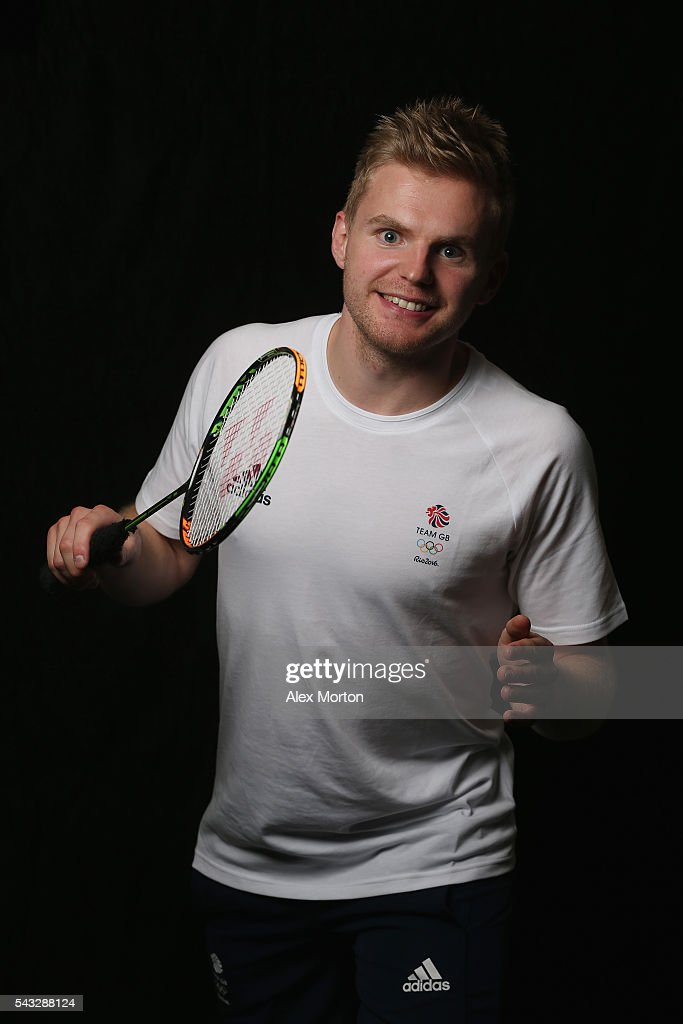 Marcus Ellis of Team GB during the Announcement of Badminton Athletes Named in Team GB for the Rio 2016 Olympic Games at the National Badminton Centre on June 27, 2016 in Milton Keynes, England.