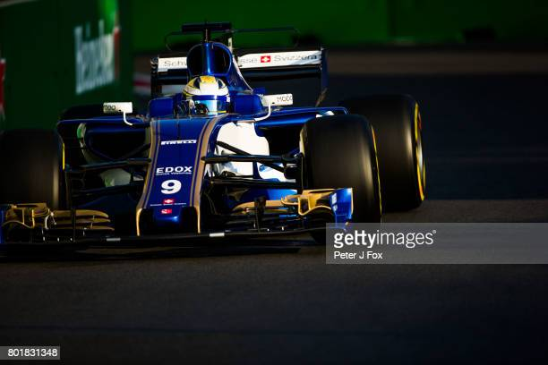Marcus Ericsson of Sweden and Sauber during the Azerbaijan Formula One Grand Prix at Baku City Circuit on June 25 2017 in Baku Azerbaijan