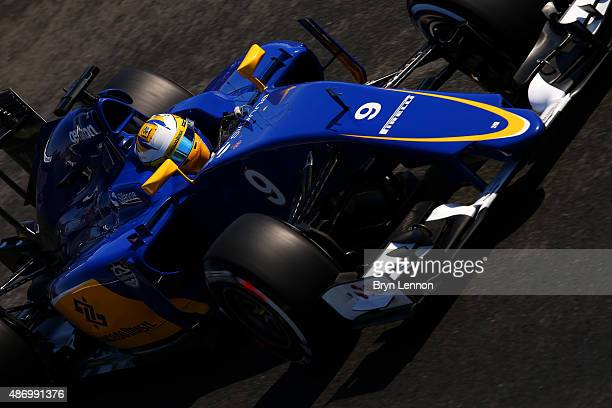 Marcus Ericsson of Sweden and Sauber F1 drives during final practice for the Formula One Grand Prix of Italy at Autodromo di Monza on September 5...