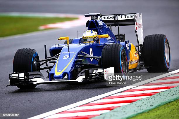 Marcus Ericsson of Sweden and Sauber F1 drives during practice for the Formula One Grand Prix of Japan at Suzuka Circuit on September 25 2015 in...