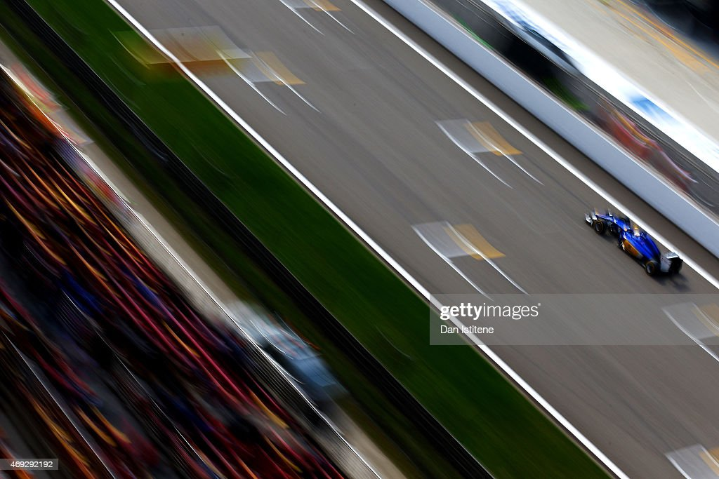 Marcus Ericsson of Sweden and Sauber F1 drives during qualifying for the Formula One Grand Prix of China at Shanghai International Circuit on April...