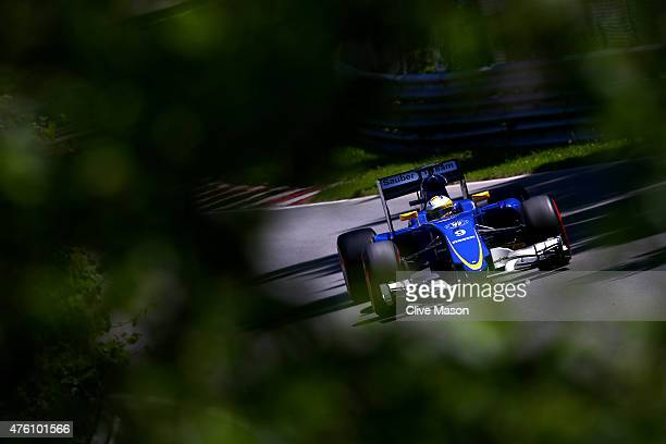Marcus Ericsson of Sweden and Sauber F1 drives during qualifying for the Canadian Formula One Grand Prix at Circuit Gilles Villeneuve on June 6 2015...