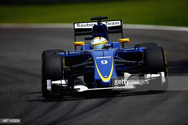 Marcus Ericsson of Sweden and Sauber F1 drives during qualifying for the Formula One Grand Prix of Brazil at Autodromo Jose Carlos Pace on November...