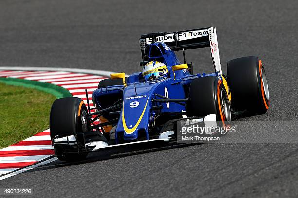 Marcus Ericsson of Sweden and Sauber F1 drives during the Formula One Grand Prix of Japan at Suzuka Circuit on September 27 2015 in Suzuka Japan