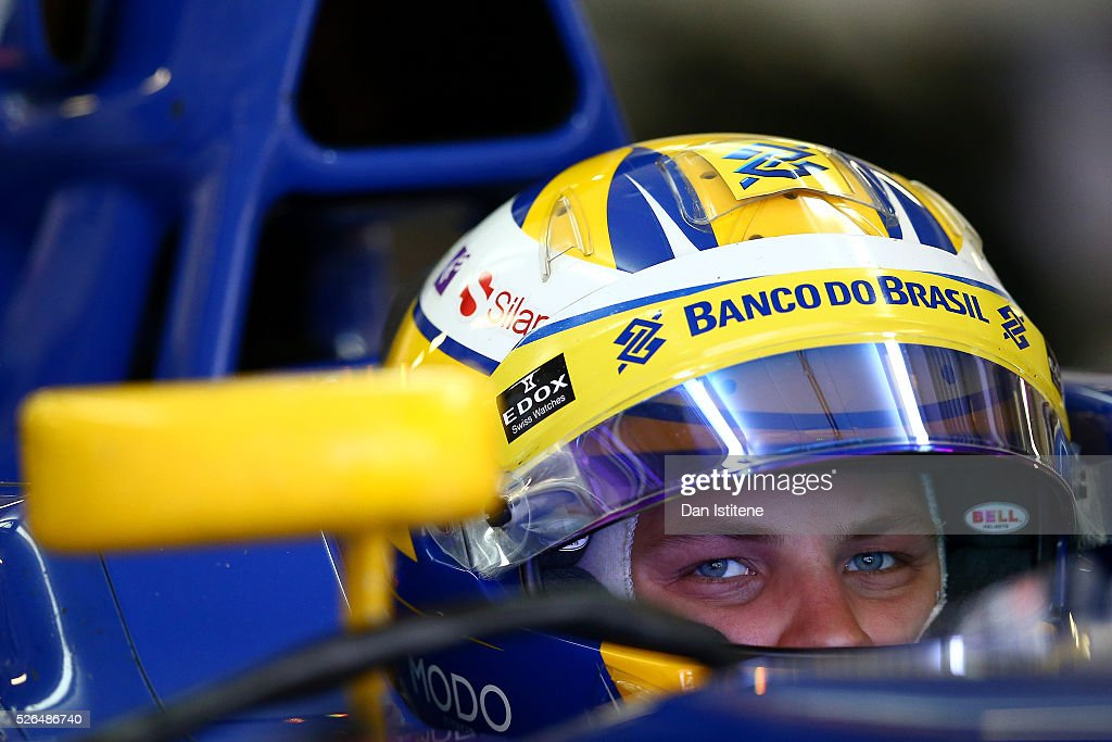 <a gi-track='captionPersonalityLinkClicked' href=/galleries/search?phrase=Marcus+Ericsson&family=editorial&specificpeople=6547855 ng-click='$event.stopPropagation()'>Marcus Ericsson</a> of Sweden and Sauber F1 in the garage during final practice ahead of the Formula One Grand Prix of Russia at Sochi Autodrom on April 30, 2016 in Sochi, Russia.