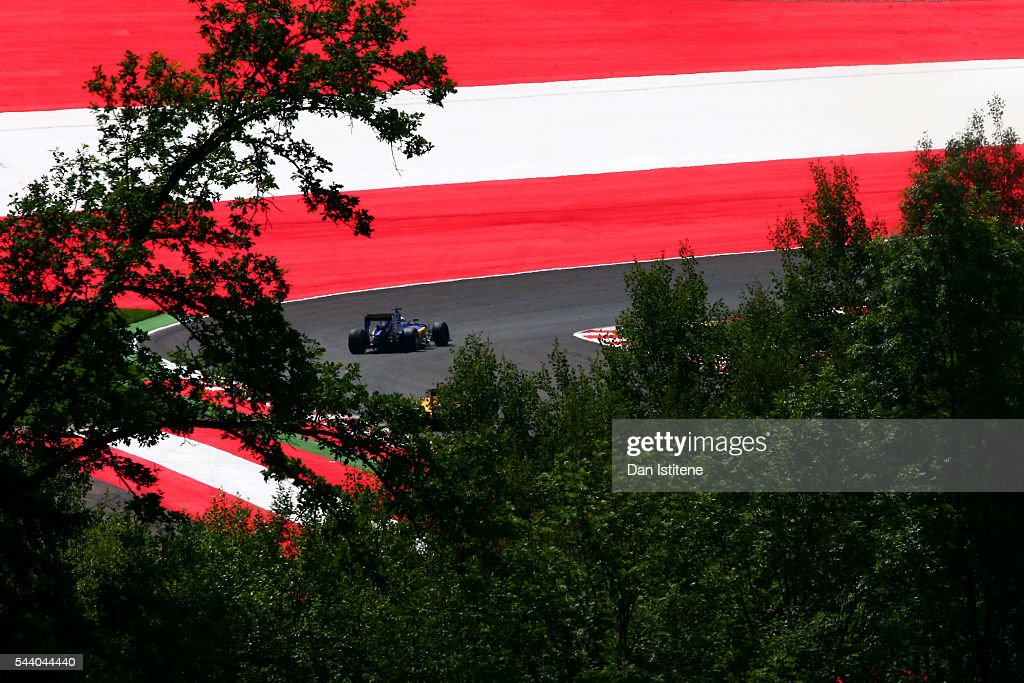 <a gi-track='captionPersonalityLinkClicked' href=/galleries/search?phrase=Marcus+Ericsson&family=editorial&specificpeople=6547855 ng-click='$event.stopPropagation()'>Marcus Ericsson</a> of Sweden drives the Sauber F1 Team Sauber C35 Ferrari 059/5 turbo during practice for the Formula One Grand Prix of Austria at Red Bull Ring on July 1, 2016 in Spielberg, Austria.