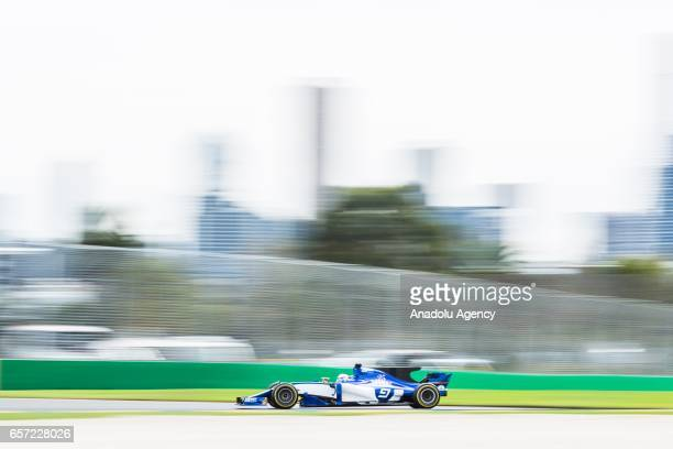 Marcus Ericsson of Sweden driving for the Sauber F1 Team on Friday Free Practice during the 2017 Rolex Australian Formula 1 Grand Prix at Albert Park...