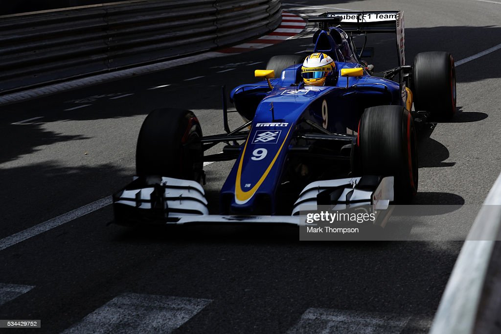 <a gi-track='captionPersonalityLinkClicked' href=/galleries/search?phrase=Marcus+Ericsson&family=editorial&specificpeople=6547855 ng-click='$event.stopPropagation()'>Marcus Ericsson</a> of Sweden driving the (9) Sauber F1 Team Sauber C35 Ferrari 059/5 turbo on track during practice for the Monaco Formula One Grand Prix at Circuit de Monaco on May 26, 2016 in Monte-Carlo, Monaco.