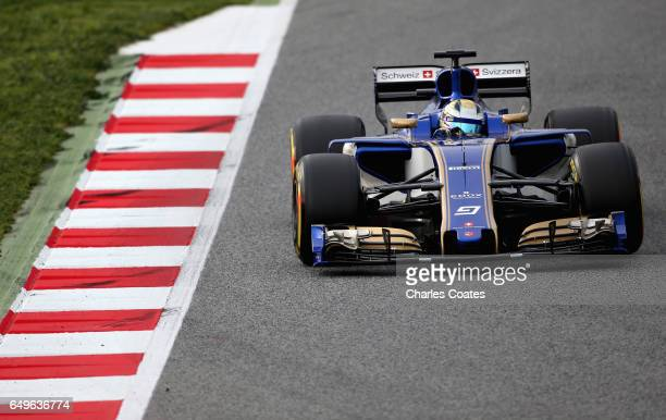 Marcus Ericsson of Sweden driving the Sauber F1 Team Sauber C36 Ferrari on track during day two of Formula One winter testing at Circuit de Catalunya...