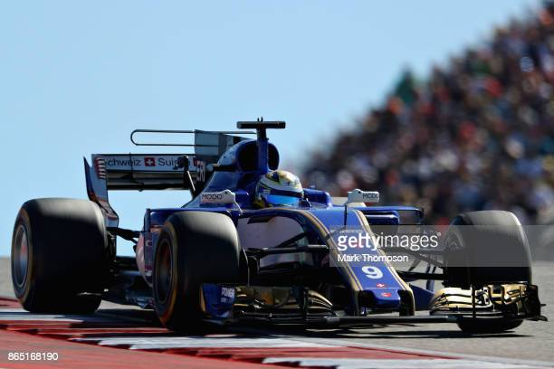 Marcus Ericsson of Sweden driving the Sauber F1 Team Sauber C36 Ferrari on track during the United States Formula One Grand Prix at Circuit of The...