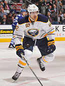 Marcus Foligno of the Buffalo Sabres skates during NHL game action against the Toronto Maple Leafs March 11 2015 at the Air Canada Centre in Toronto...