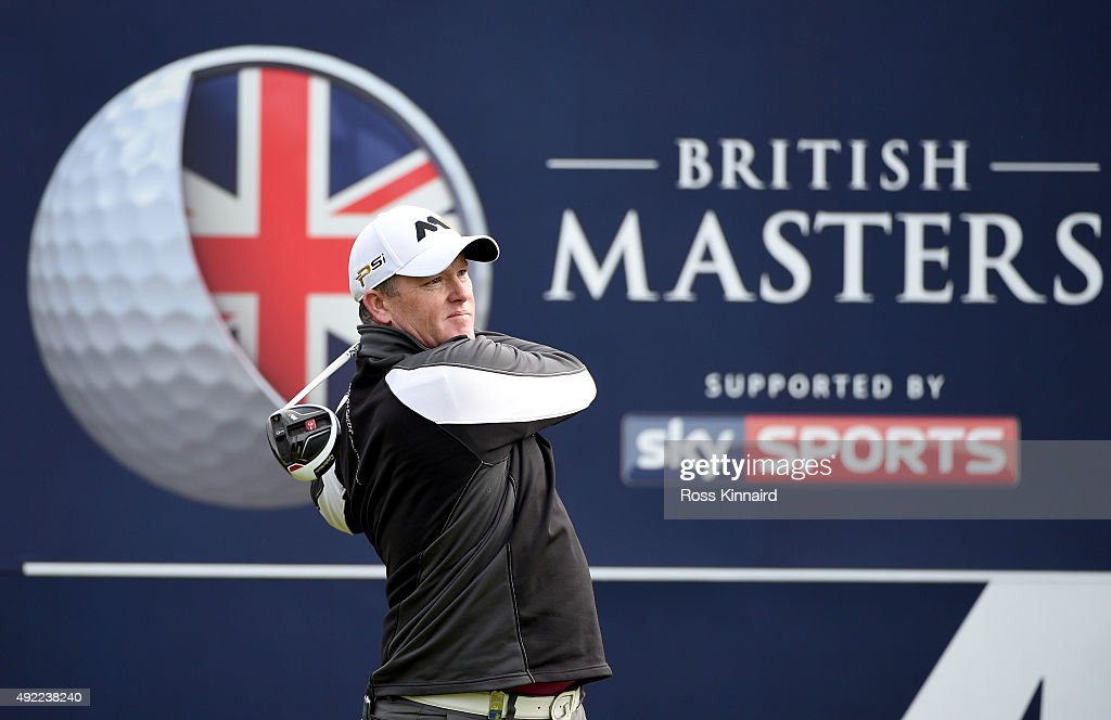 Marcus Fraser of Australia during the final round of the British Masters at Woburn Golf Club on October 11, 2015 in Woburn, England.